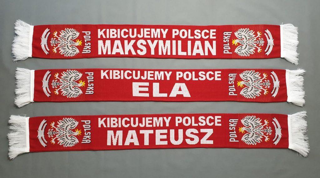 Szaliki Polska z imieniem